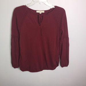 Ann Taylor Loft Dark Red Sweater Sz SP